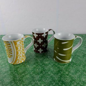 Set of 3 ROSANNA Coffee Mugs